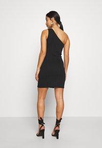 Miss Selfridge Petite - MINI ONE SHOULDER BANDAGE DRESS - Kjole - black - 2