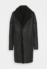 VSP - REVERSIBLE CURLY FLORANCE - Klasyczny płaszcz - black antracite - 2