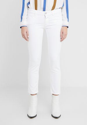 STARLET LOW WAIST CROPPED LENGTH - Skinny džíny - white