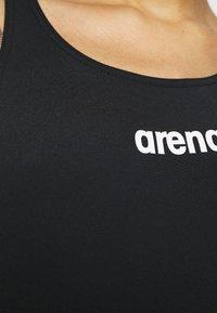 Arena - SOLID SWIM HIGH - Swimsuit - black/white - 5