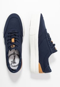 Tamaris - LACE UP - Sneakers laag - navy - 3