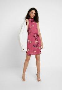 Vero Moda - VMCALLIE SMOCK DRESS - Day dress - rose wine - 2