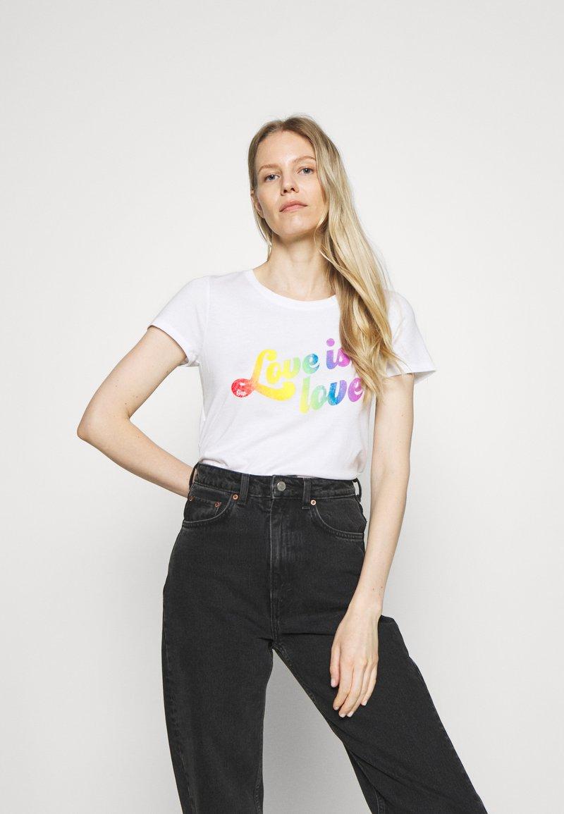 GAP - CREW - Print T-shirt - white