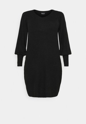 PCPAM V-NECK DRESS - Jumper - black