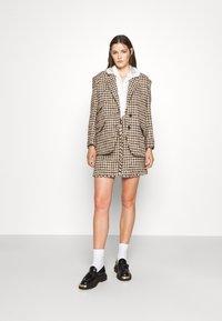 sandro - Mini skirt - marron beige - 1