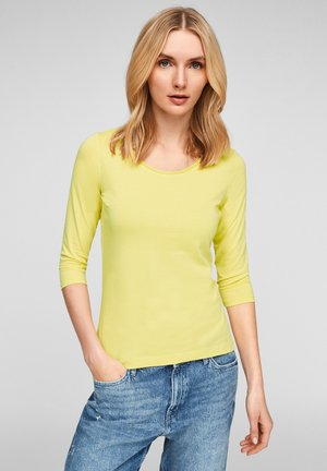 Long sleeved top - lime yellow