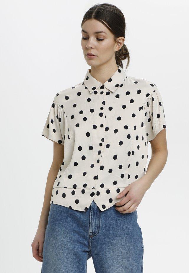 Camicia - off white w black dot