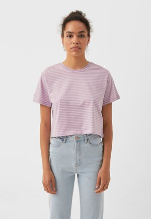 MIT STREIFEN 02505585 - Print T-shirt - purple