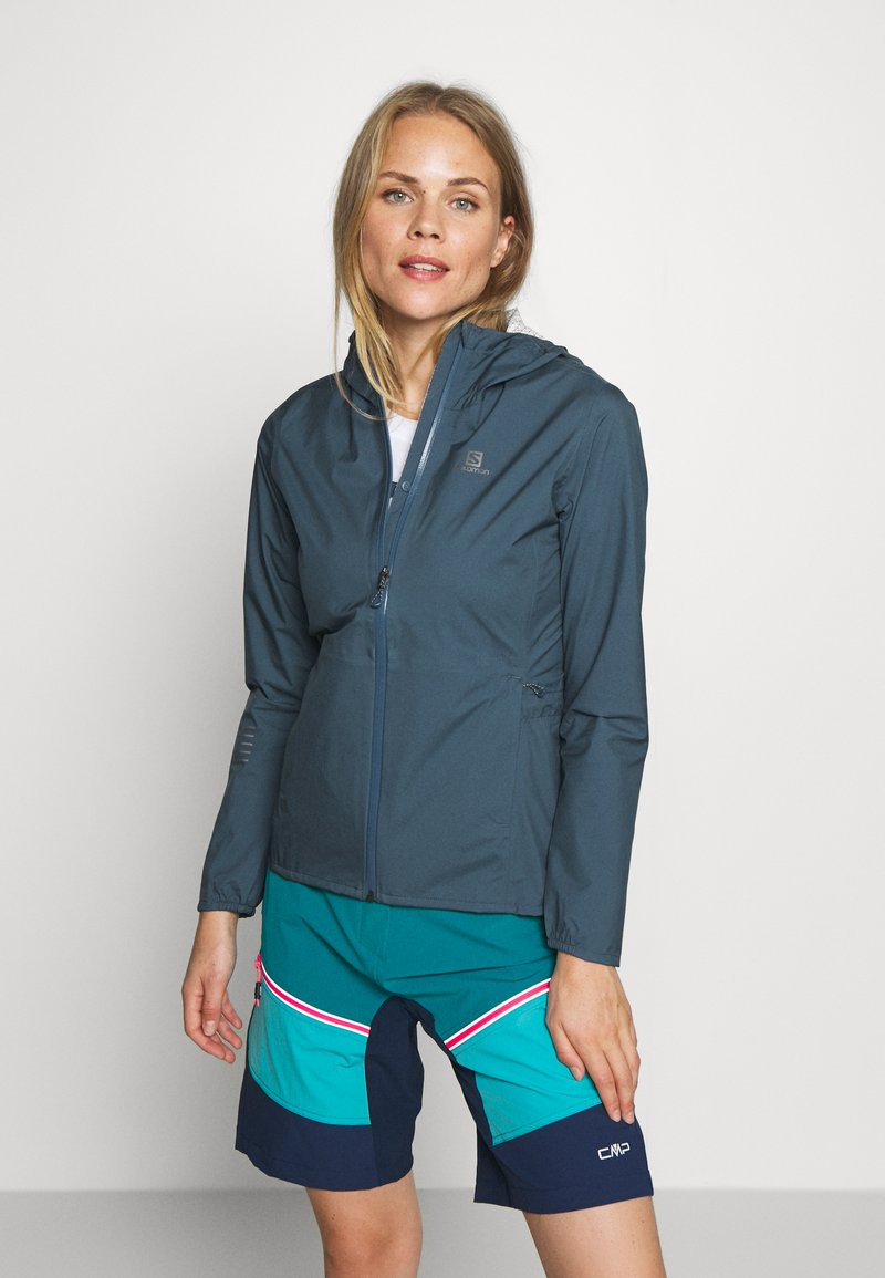 Salomon - LIGHTNING - Hardshell jacket - dark denim