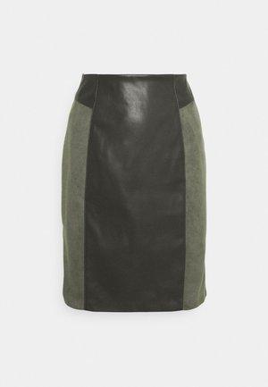 ONLELISA MIX SKIRT - Mini skirt - peat