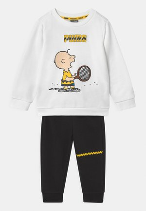 PEANUTS MINICATS CREW SET UNISEX - Survêtement - white/black