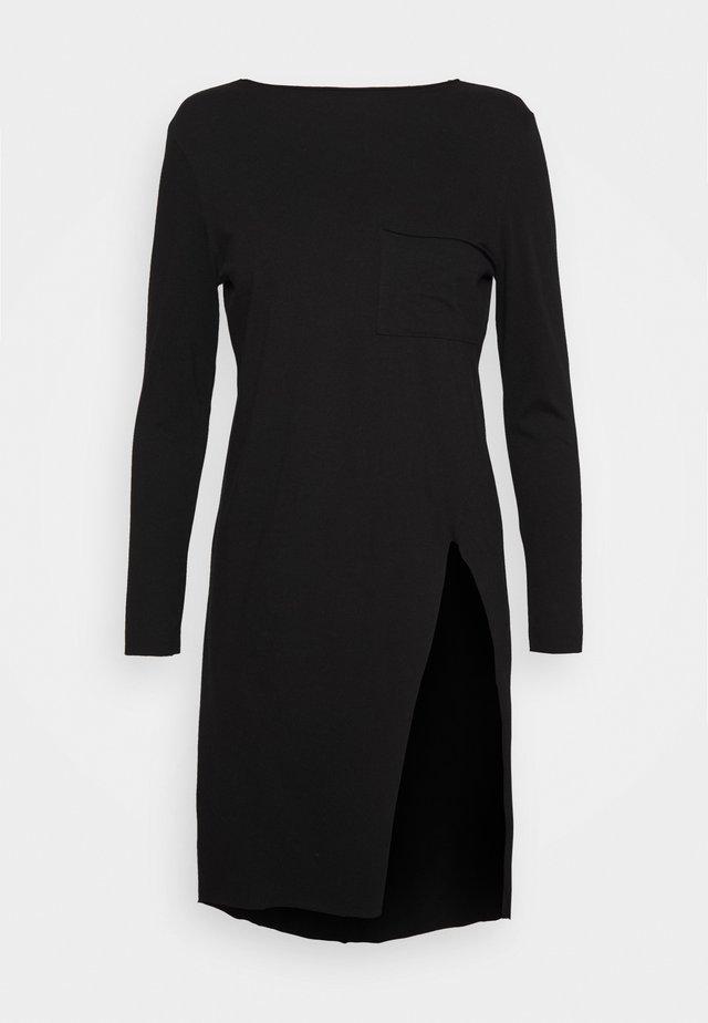 LONG SLEEVE TWIST SEAM TEE - Bluzka z długim rękawem - black