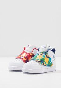 Jordan - SKY 1 UNISEX - Basketball shoes - white/court purple/total orange - 3