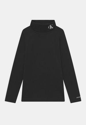MONOGRAM ROLL NECK - Långärmad tröja - black