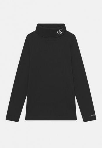 MONOGRAM ROLL NECK - Bluzka z długim rękawem - black