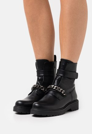 BIADELPHA CHAIN BOOT - Platform ankle boots - black