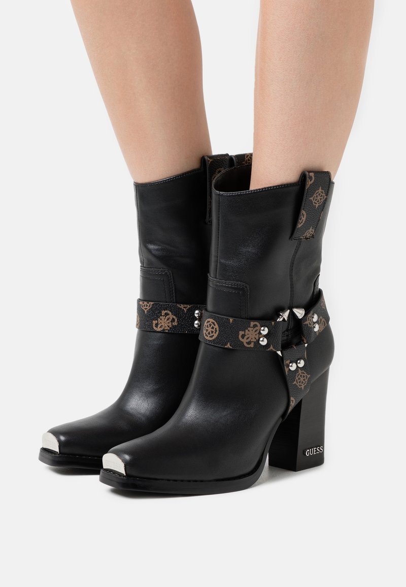 Guess - FLAVIA - High heeled ankle boots - brown/ocra