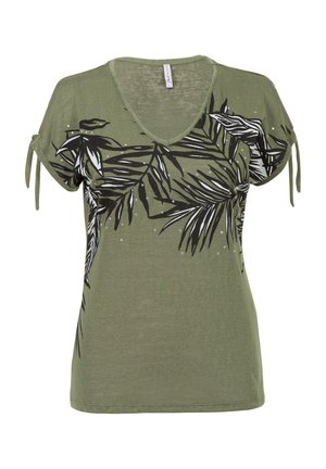 Print T-shirt - m.light olive
