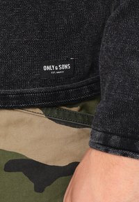 Only & Sons - ONSGARSON WASH CREW NECK - Stickad tröja - black - 4