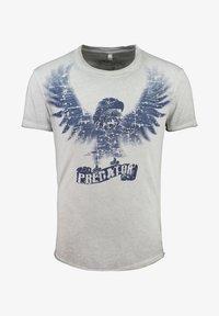 Key Largo - MT PREDATOR - Print T-shirt - light grey - 0