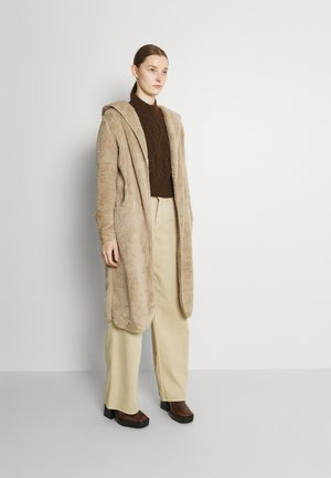ONLCONTACT LONG HOODED COAT - Classic coat - humus