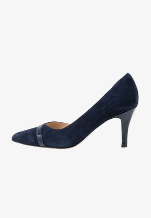 LEATHER CLASSIC HEELS - Pumps - dark blue