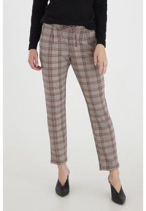Trousers - barn red mix