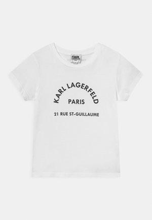 SHORT SLEEVES TEE - Print T-shirt - blanc