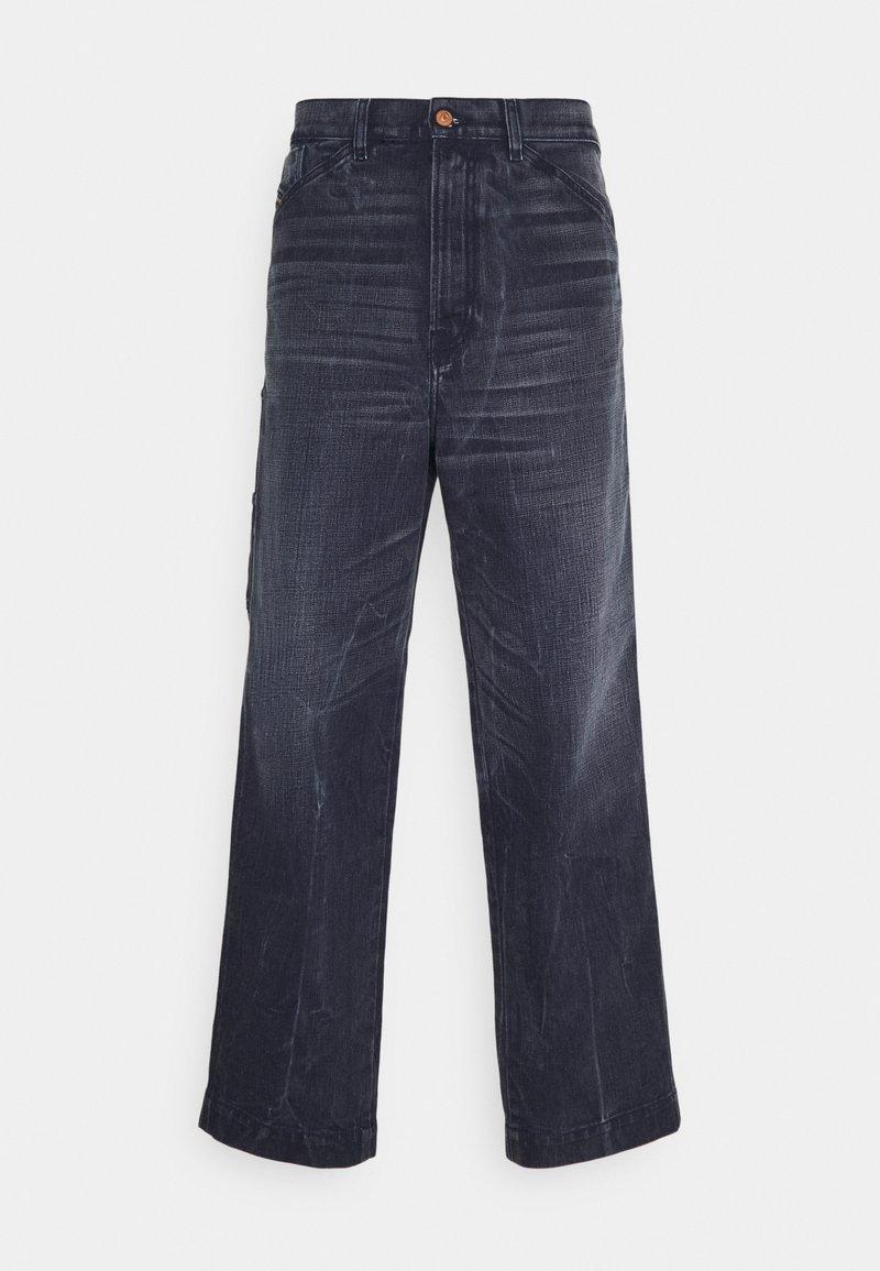 Diesel - D-FRANKY - Relaxed fit jeans - dark-blue denim