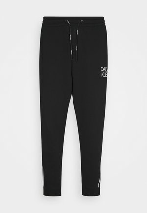 TWO TONE LOGO PANT - Tracksuit bottoms - black