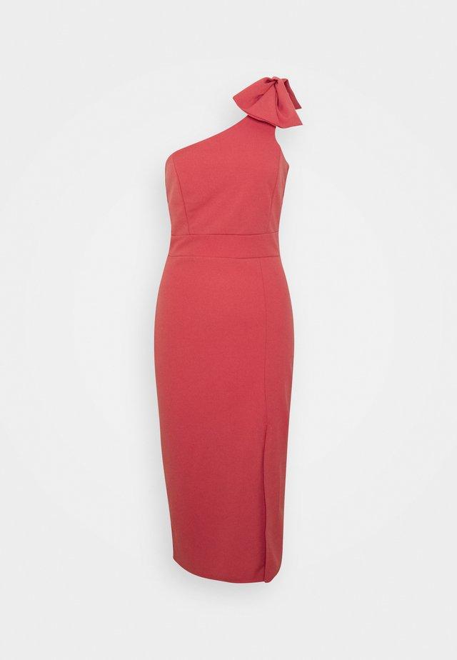 FRILL HEM MIDI DRESS - Vestido de cóctel - blush pink