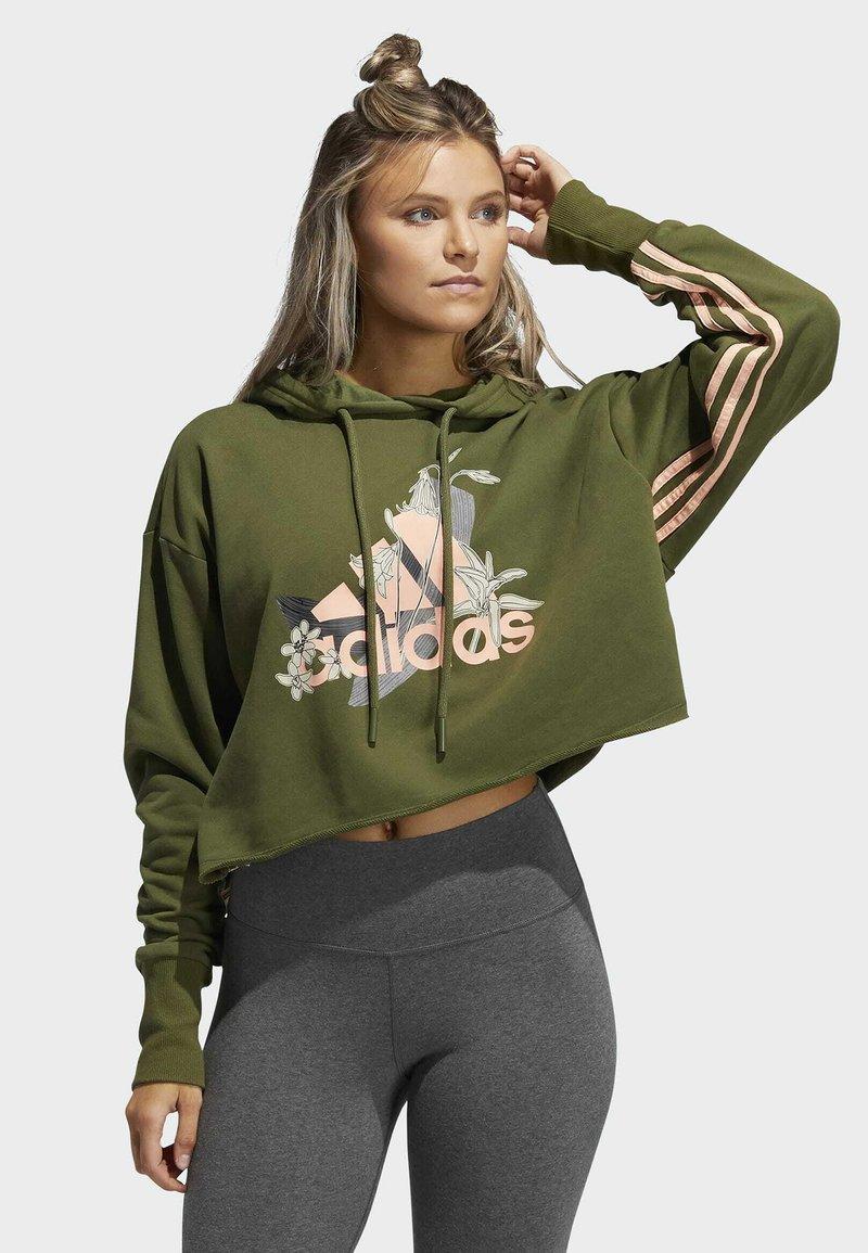adidas Performance - Hoodie - green