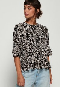 Superdry - JAYNA RUFFLE - Blouse - brown - 0