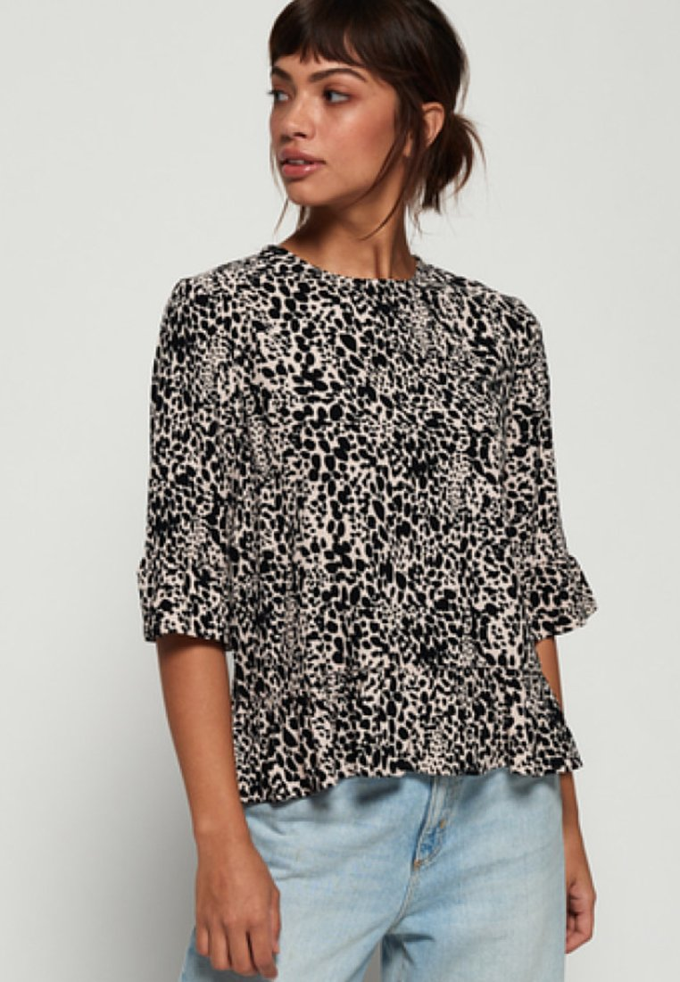 Superdry - JAYNA RUFFLE - Blouse - brown