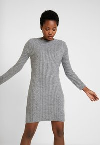 Anna Field - Strikket kjole - dark grey marl - 0