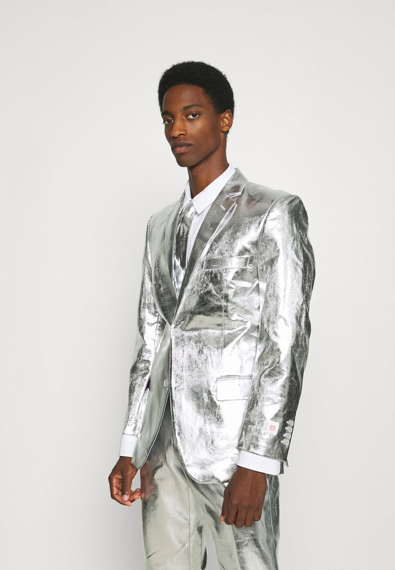 OppoSuits - SHINY SET - Suit - silver