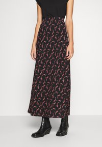 Anna Field - BASIC - Maxi skirt - Maxi sukně - black/rose - 0