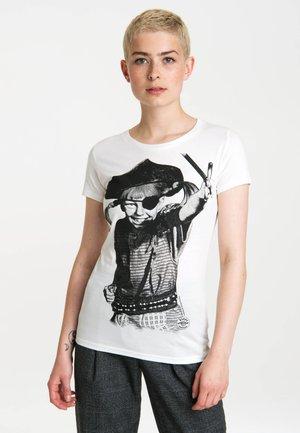 PIRATE  - Print T-shirt - altweiss