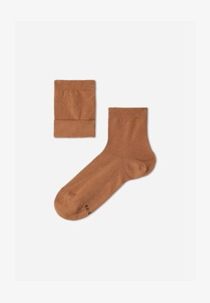 MIT ATMUNGSAKTIVEM FRESH FEET MATERIA - Socks - cammello