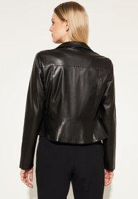 comma - Faux leather jacket - black - 2