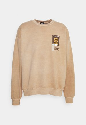 BREATHE LIFE CREWNECK UNISEX - Sweatshirt - sand