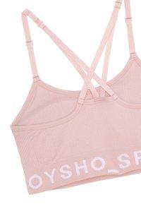 OYSHO - MIT LOGO  - Sport-bh met medium support - rose - 6