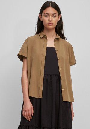 Button-down blouse - brown ochre