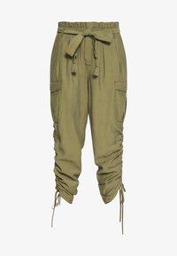 Cream - GUNNA PANTS - Cargo trousers - olive - 4