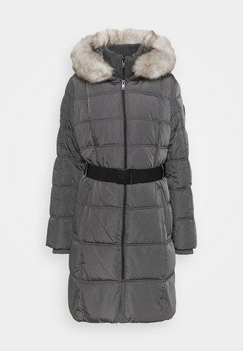 WAISTED PUFFER - Winter coat - titan