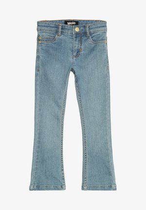 ALIZA - Bootcut jeans - light washed blue
