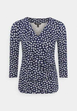 Long sleeved top - french navy/multi