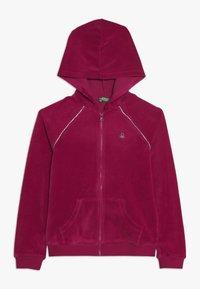 Benetton - JACKET HOOD - Zip-up hoodie - pink - 0