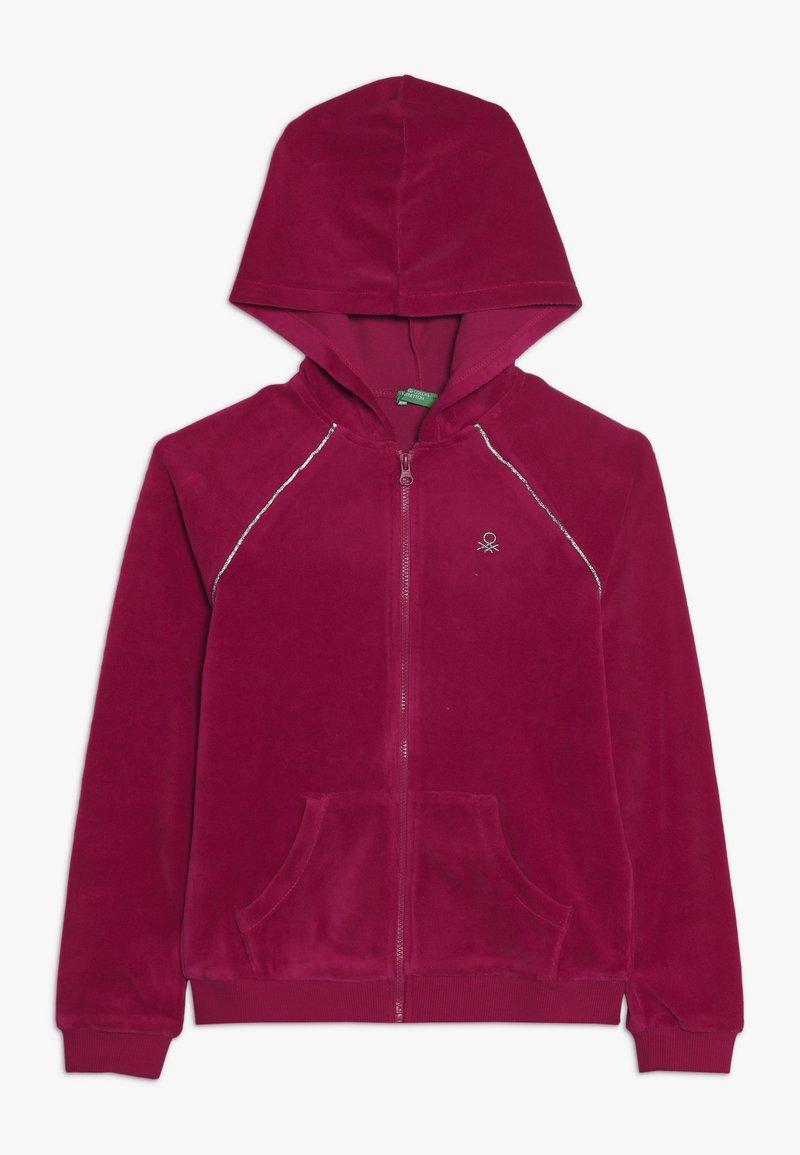 Benetton - JACKET HOOD - Zip-up hoodie - pink
