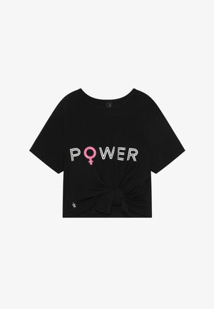 GIRLS POWER KNOT - Print T-shirt - black